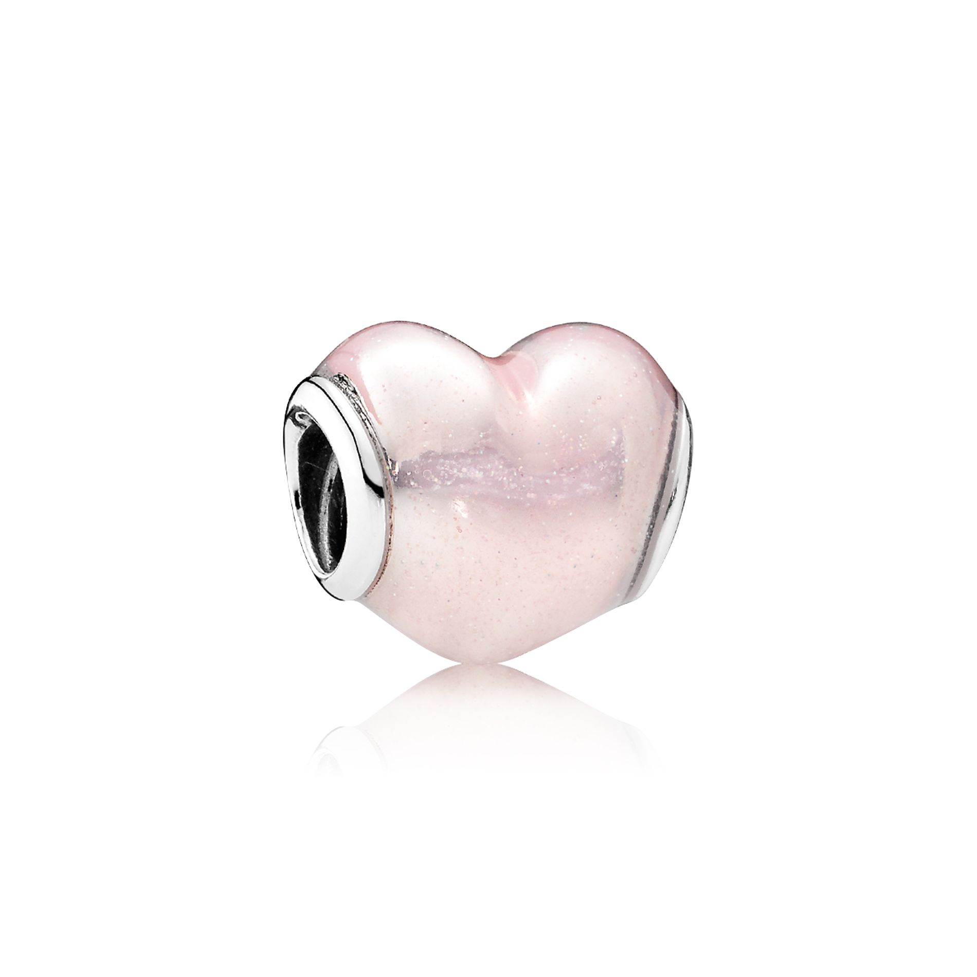Solid S925 Sterling Silver Charm I Love Husbend Charm Pendant w//Clear Accents