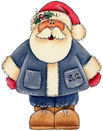 Unas imágenes para imprimir de Papa Noel  el personaje que más ilusión trae a los niños, ¿Cómo no iba a tener su rincón en Imágenes y dibujo...