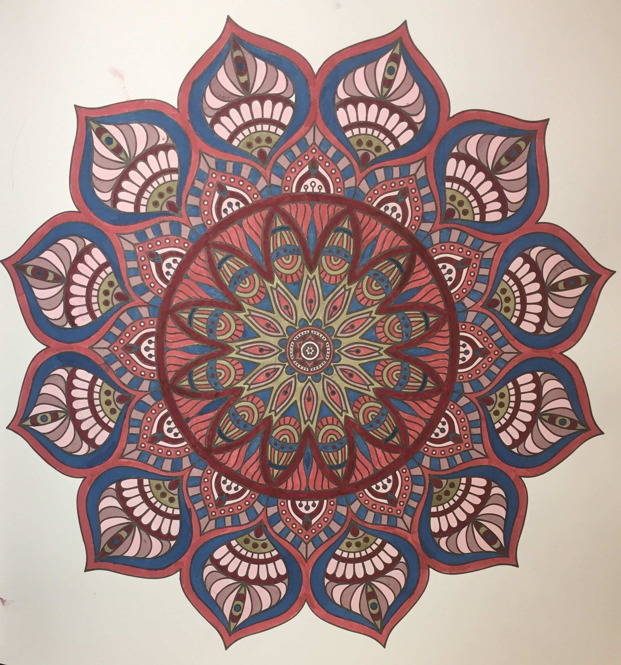 From Mandala Meditation 2015 Colored By B Holmes With Uchida Marvy Brush Markers 3 2017 Mandala Coloring Mandala Art Mandala Meditation