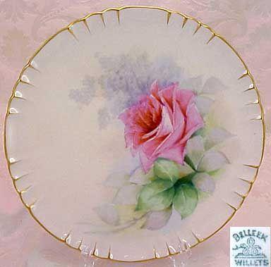 Belleek Hand Painted Cabinet Dish Belleek Ireland Porcelana Cer 225 Mica Pinturas