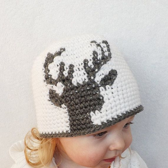 Instant Download - The Dylan Crochet Deer Silhouette Hat PATTERN ...