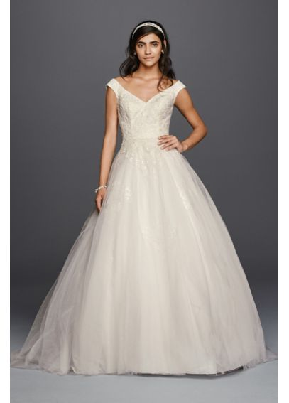 7e9491699d01 Jewel Tank Tulle Wedding Dress with Lace Applique WG3797 | Wedding ...