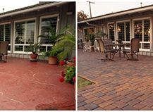 Before After System Pavers Patio Deck Entertain Outdoorliving