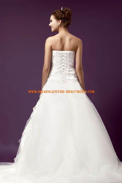 Romantische Schöne Traumhafte Brautkleider aus Organza mit Applikation