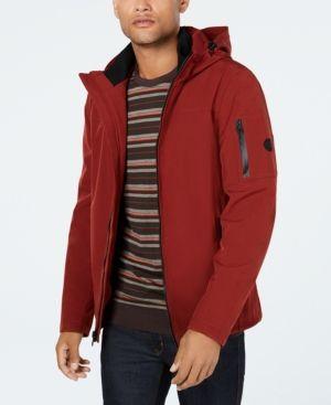 88b4b9f0a3e Calvin Klein Men s Soft Shell Jacket with Fleece Lining - Red XXL ...