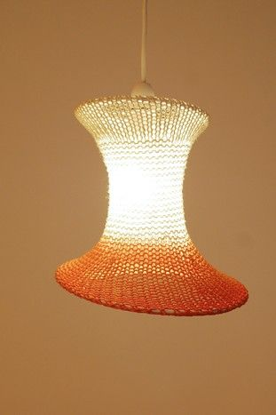 Knitted lampshade!