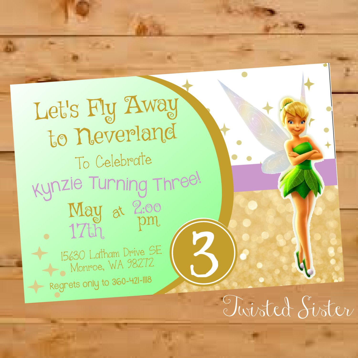 Tinkerbell Birthday, Tinkerbell Birthday Invitation, Tinkerbell ...