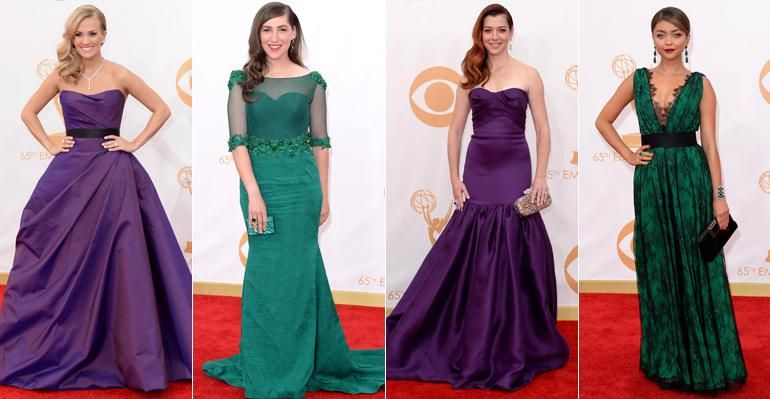 Roxo e verde se destacam no red carpet do Emmy 2013
