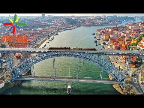 Porto visto do céu - Oporto aerial view - 4K Ultra HD - YouTube