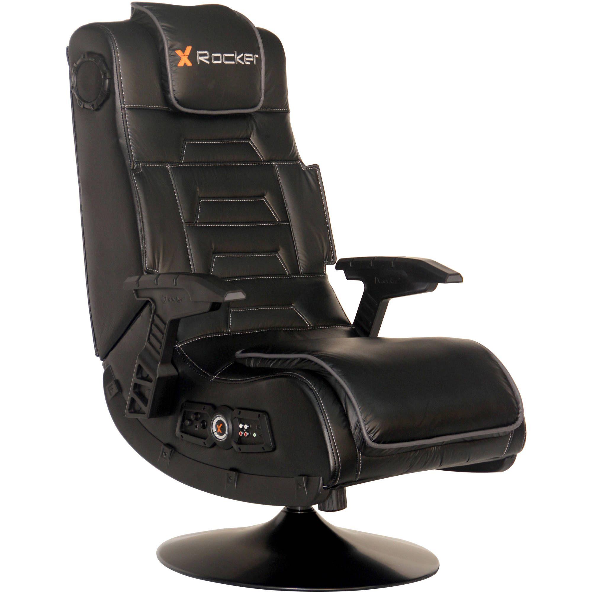 X Rocker Pro Series Pedestal Wireless 2 1 Gaming Chair Rocker Black Walmart Com In 2020 Gaming Chair Gamer Chair Rocking Chair