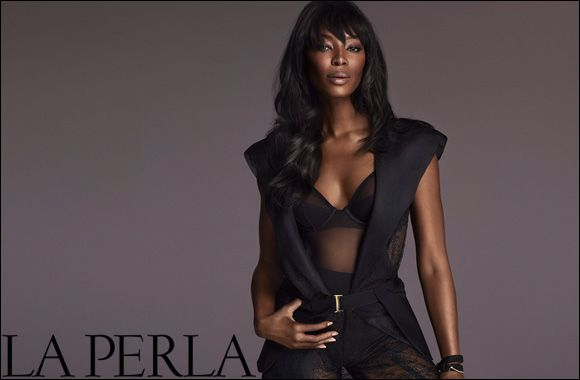 """Naomi Campbell wears the """"Impossible Lace"""" for the La Perla Fall/Wall 2015 Campaign : http://www.godubai.com/citylife/press_release_page.asp?PR=100778&Sid=1,50,52,18,19&Sname=Fashion%20and%20Lifestyle"""