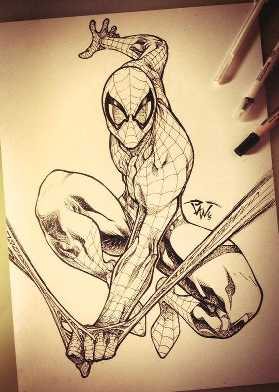 Kleurplaten Spiderman 4.Pin By Laura On Kleurplaten Marvel Drawings Spiderman Art Comic Art