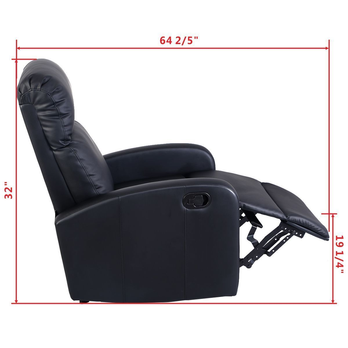 Sensational Giantex Manual Recliner Sofa Chair Black Home Living Room Dailytribune Chair Design For Home Dailytribuneorg