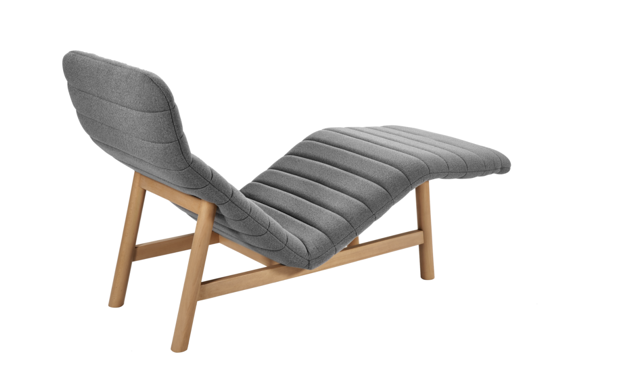 chaise longue en tissu habitat