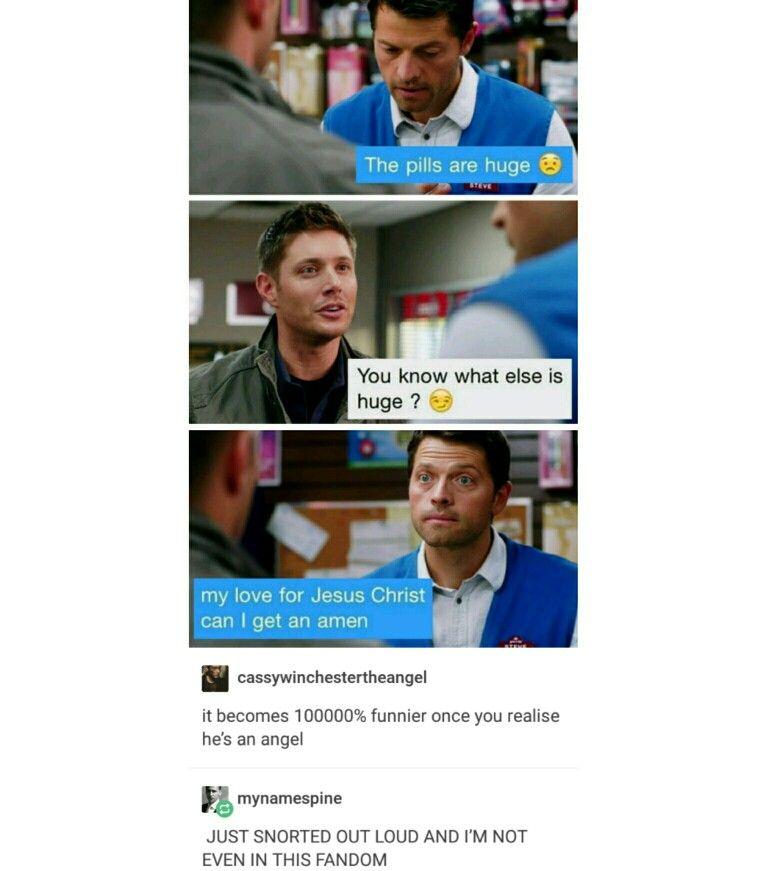 supernatural tumblr textpost destiel funny lol
