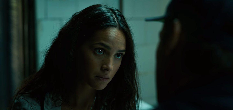 Adria Arjona as Yovanna in the Netflix movie Triple Frontier