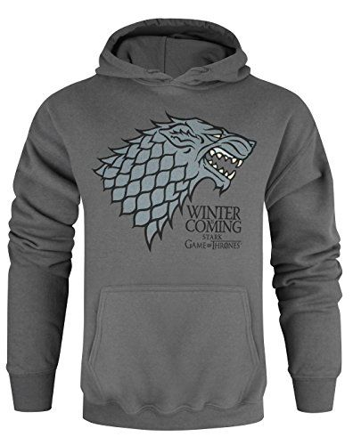 Official Game Of Thrones Stark Winter Is Coming Charcoal Unisex Hoodie S Niftywarehouse Com