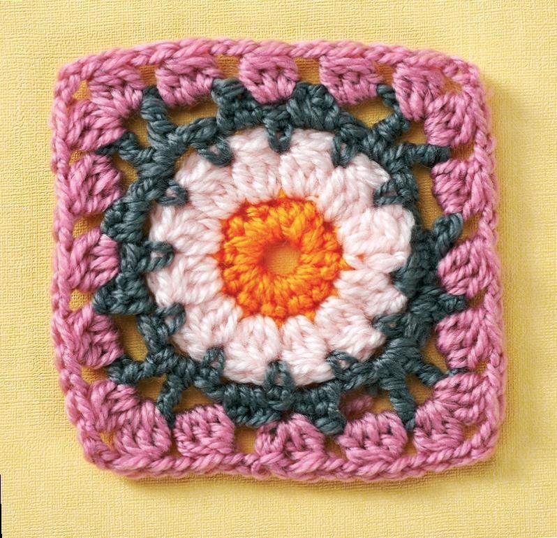 Basic Flower Granny Square Sondras Board Pinterest Flower