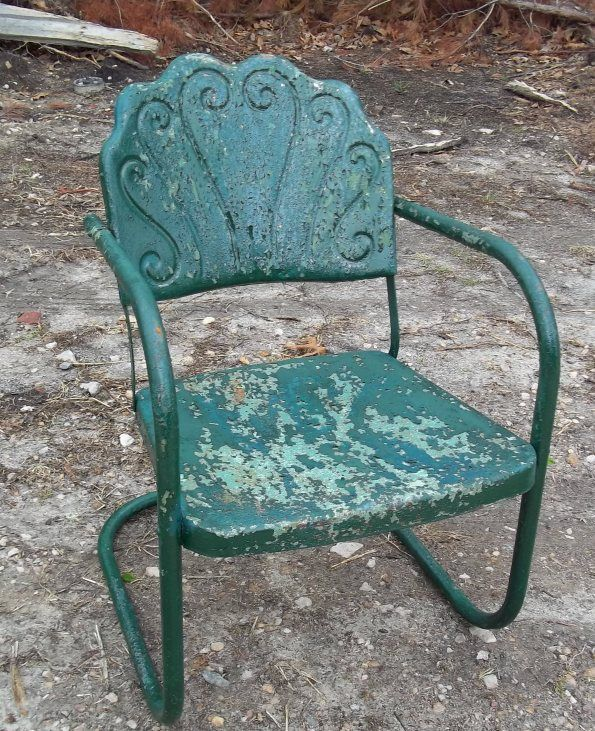 Vintage Metal Chairs And Retro Patio Tables - Vintage ...