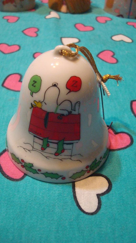 Snoopy Christmas Bell 1975 By Therecycledgreenrose On Etsy 27 00