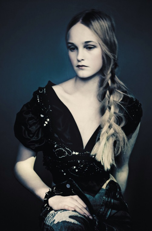 'The Ultimate Black' Jean Campbell by Paolo Roversi for Vogue Italia March 2014.