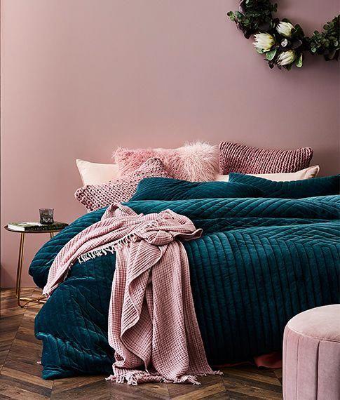 Jardin Quilted Velvet Quilt Cover Bedroomdecormaster