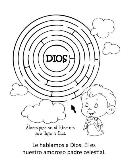 Sirvo A Dios Orando Biblia Para Ninos Actividades De La Biblia
