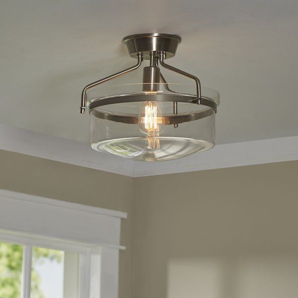 Alcott hill rhinebeck 1 light semi flush mount reviews wayfair