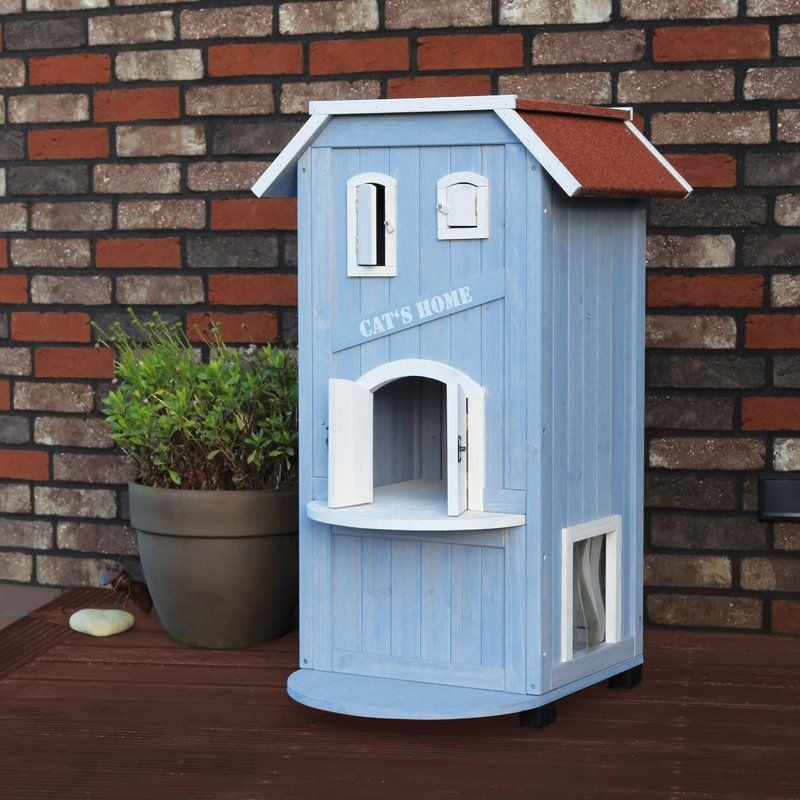 Trixie 3 Story Cat House Reviews Wayfair Outdoor Cat House Wooden Cat House Cat House
