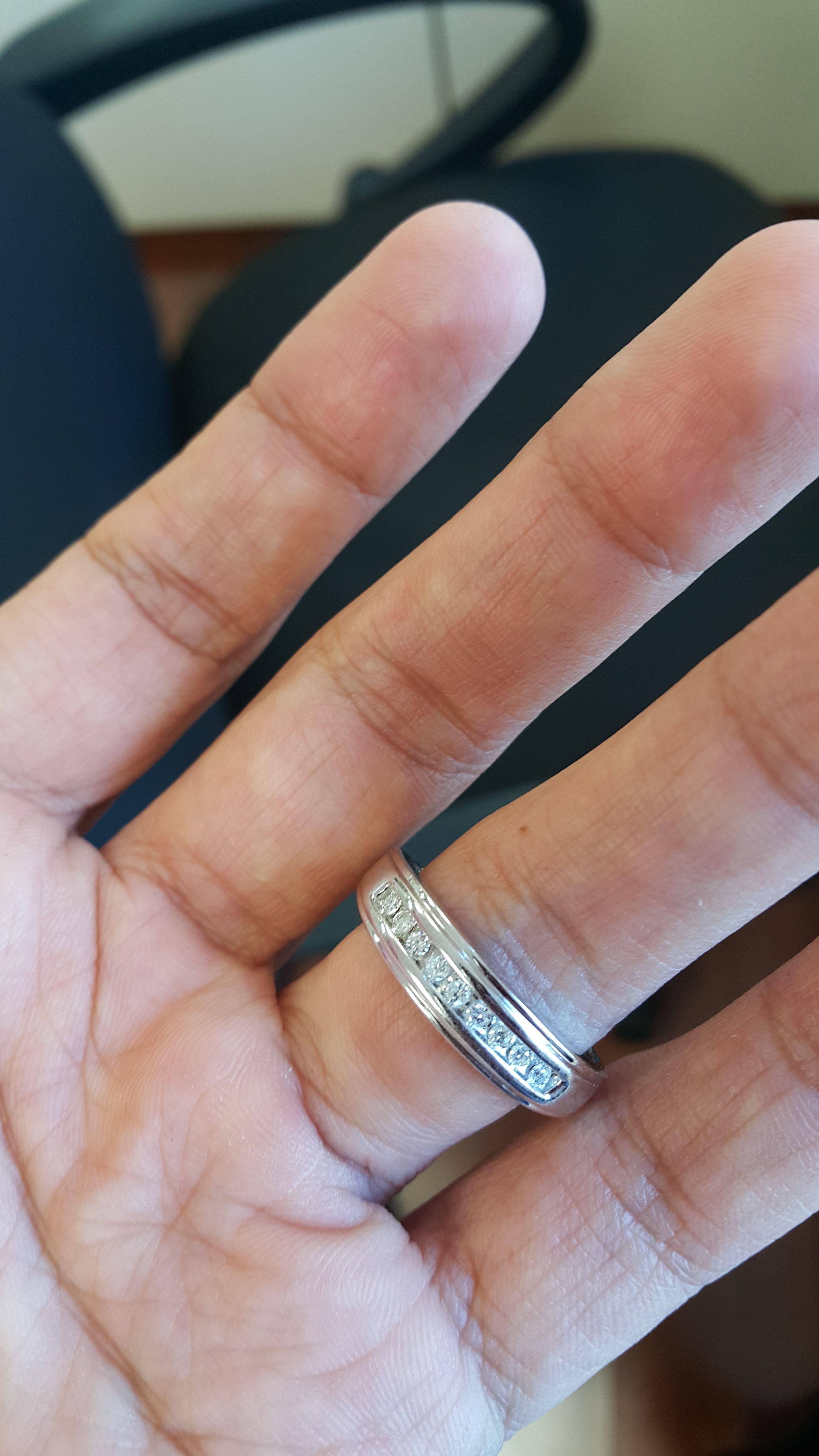Rings On Hand Mens Wedding Band Bt501wm Wedding Ring Trio Sets Engagement Rings For Men Mens Wedding Bands