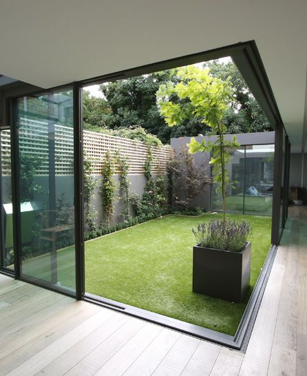 35 Indoor Garden Ideas To Green Your Home: IQGlass - Large Glass Sliding Doors …