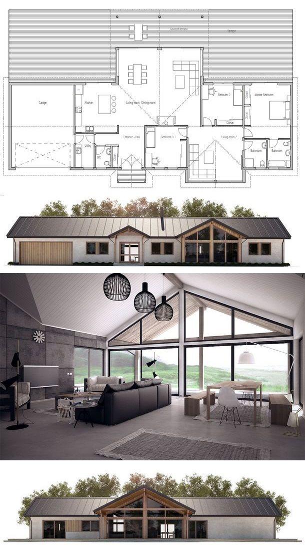 plan de maison Idée Pinterest Planos, Casas y Planos de casas