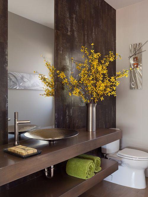 Photos et idées déco de WC et toilettes Miroir Pinterest - Comment Decorer Ses Toilettes