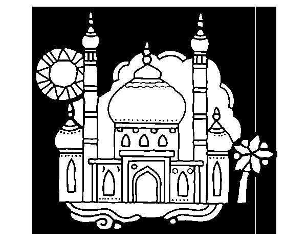 Coloring page Taj Mahal to color online - Coloringcrew.com   Color ...