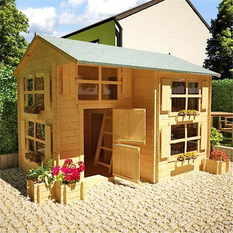 Buy a The BillyOh Mad Dash Annex Log Cabin Wooden Playhouse from ...