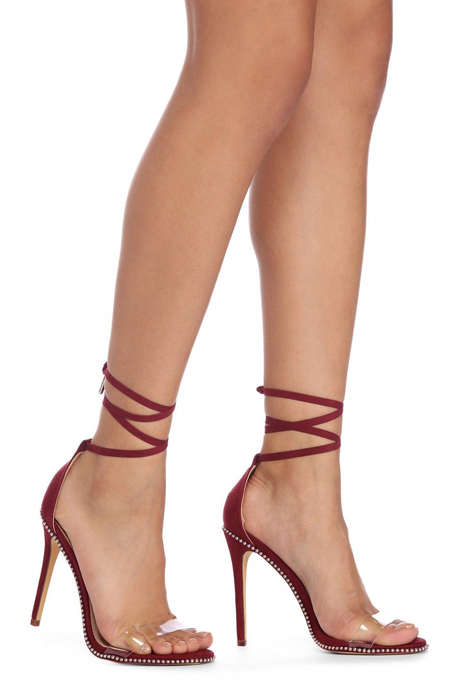 d9030568d7b FINAL SALE- Stunna  Studded Stiletto Heels  Stilettoheels