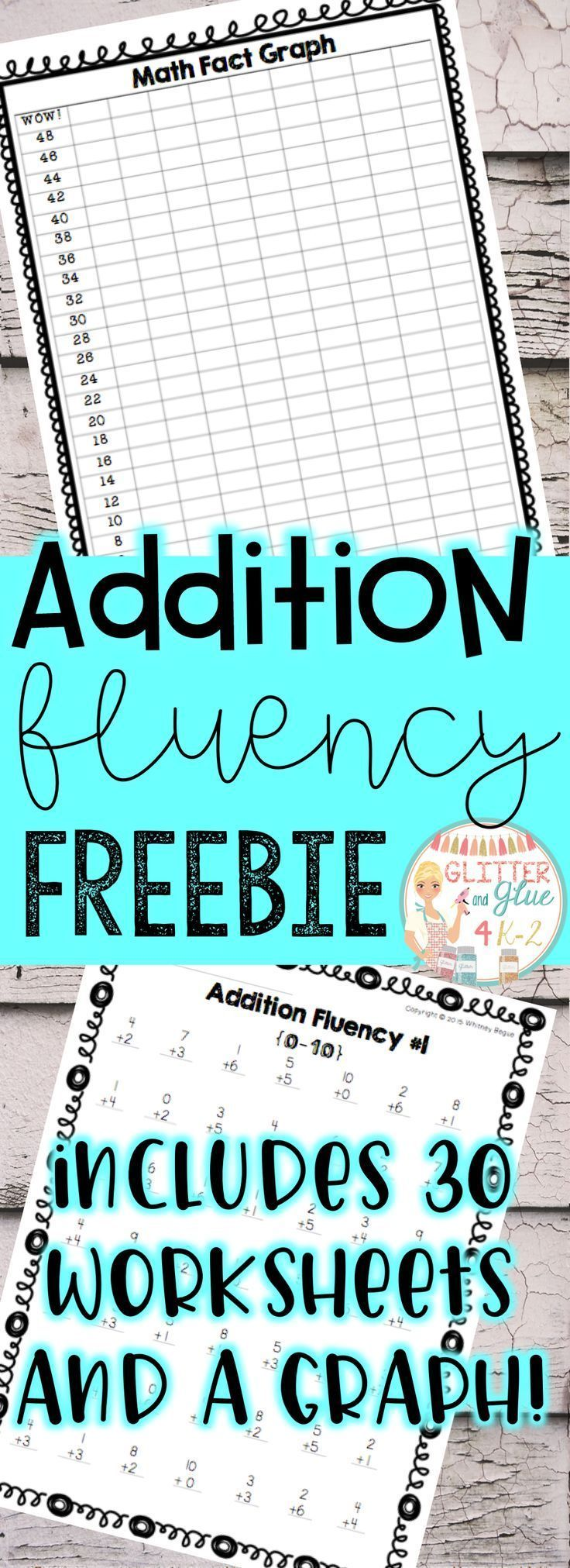 Check students addition fluency with this FREEBIE! Includes 30 ...