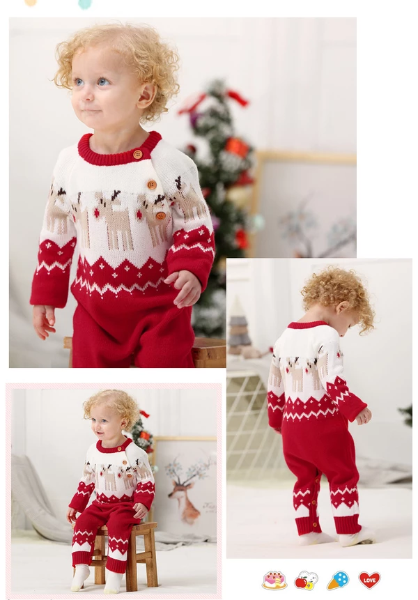 Toddler Baby Girl Pullover Christmas Infant Kids Knitted Sweater