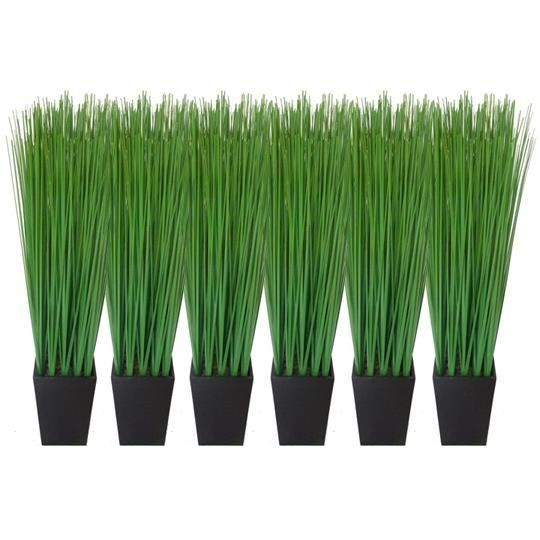 Fleur artificielle lot de 6 plantes herbes artificielles for Arbre artificiel pour terrasse