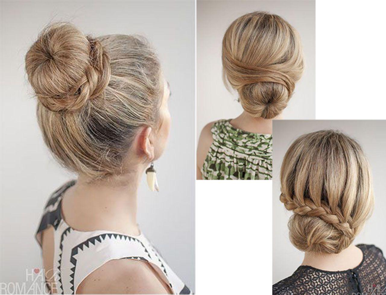 3 coiffures faciles avec un donut Hair Styles Coiffure