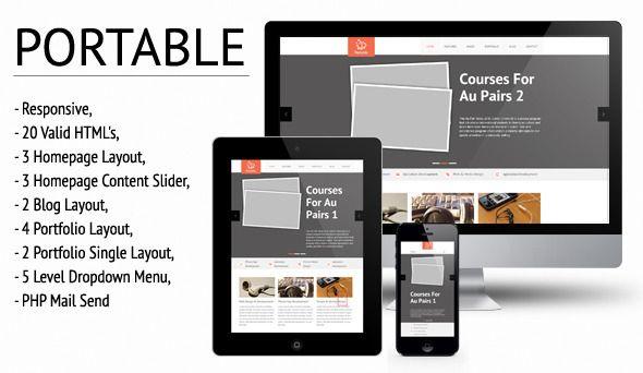 Portable Responsive Htmlcss Template Web Templates Html