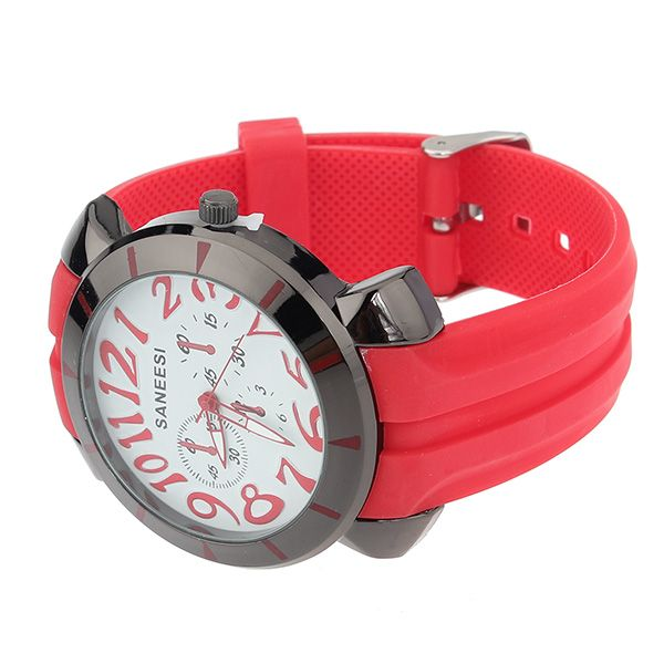 Multicolor Silicone Buckle Watch