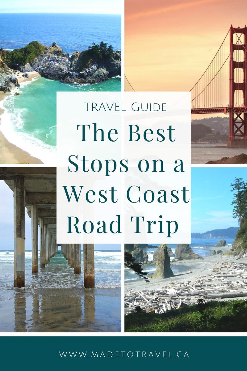 West Coast Road Trip: The Ultimate Travelers Guide #westcoastroadtrip The Best Stops on a West Coast Road Trip: Travel Guide. Click through for the best stops in Washington, Oregon, and California along highway 101. #westcoastroadtrip #washington #oregon #california #roadtrip #camping #highway101 #madetotravel #westcoastroadtrip