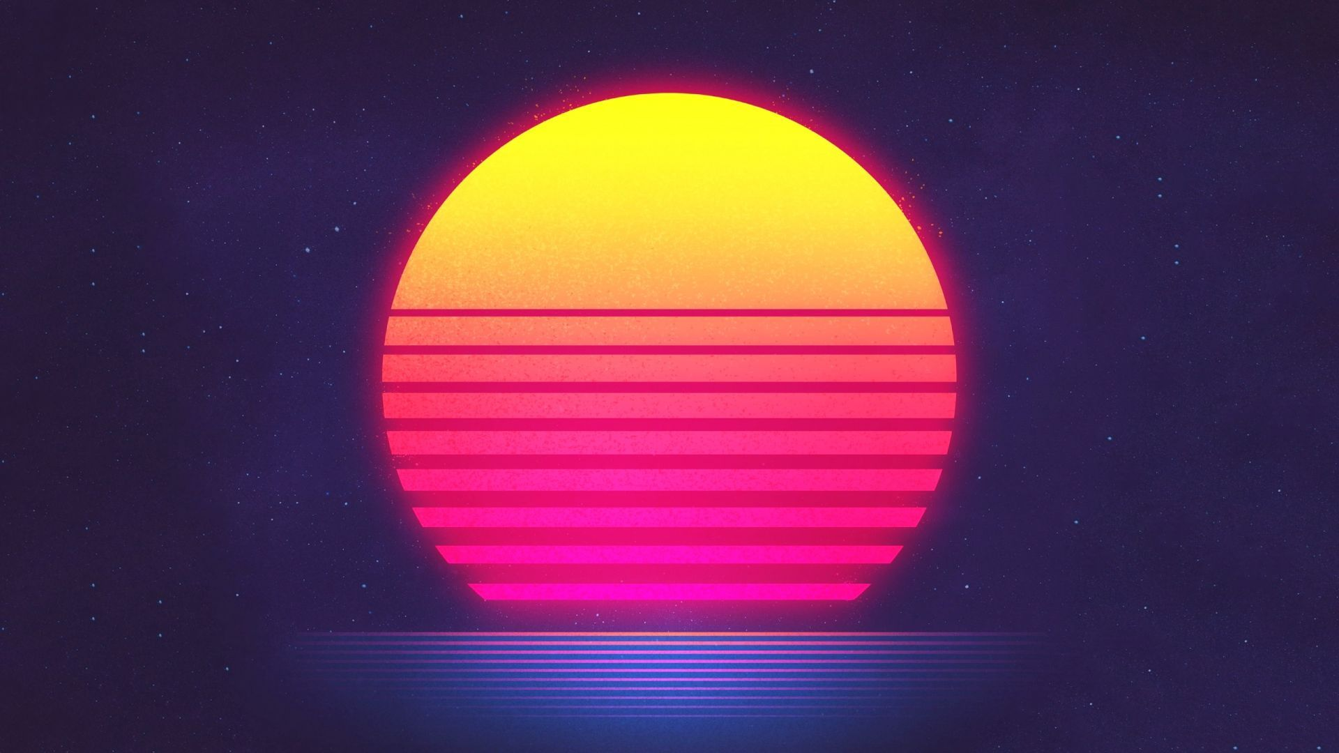 Sunset Retrowave Synthwave Hd Retro Waves Sun Illustration Synthwave