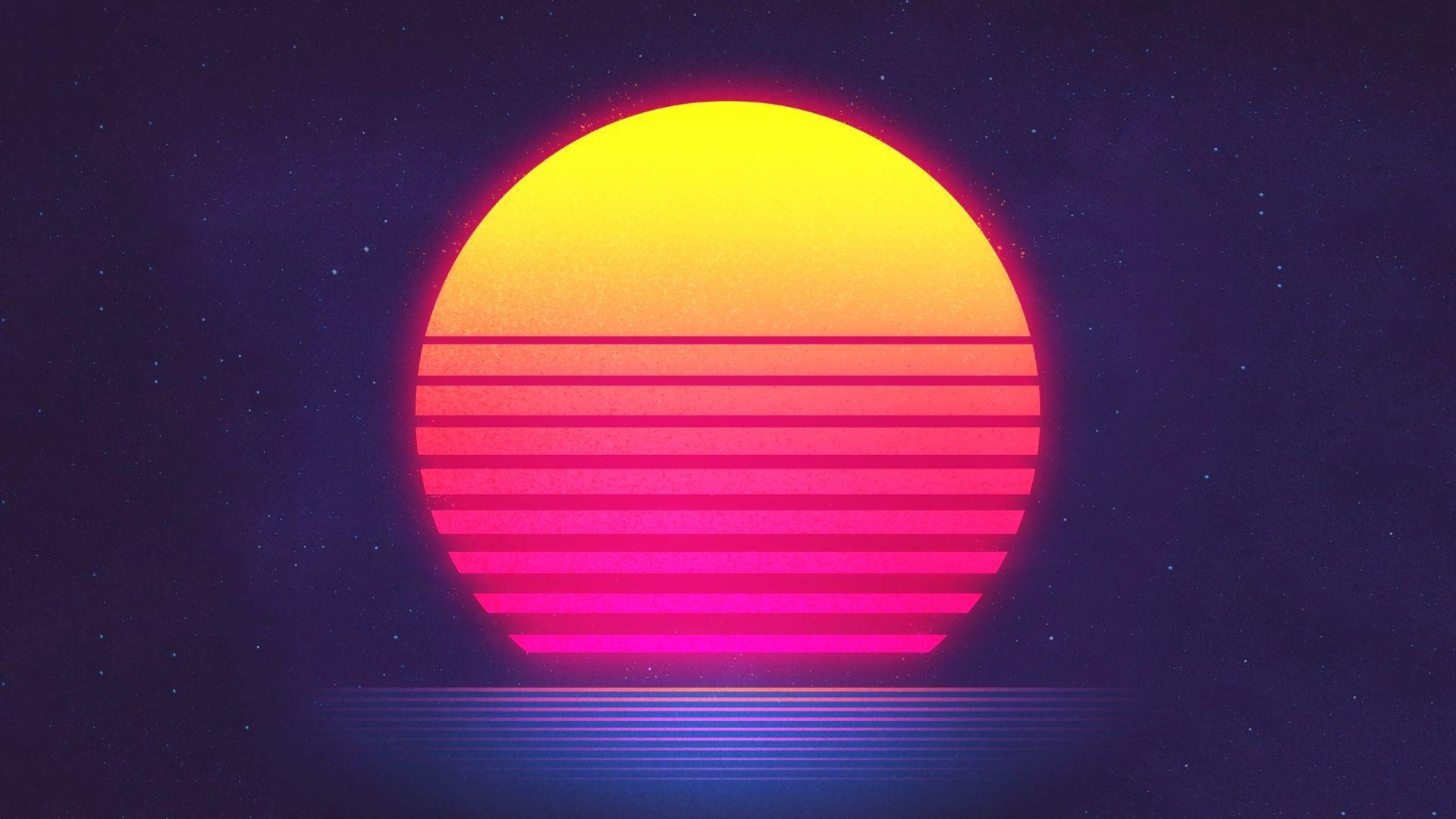 Sunset Retrowave Synthwave Hd Retro Waves Synthwave Sun Illustration