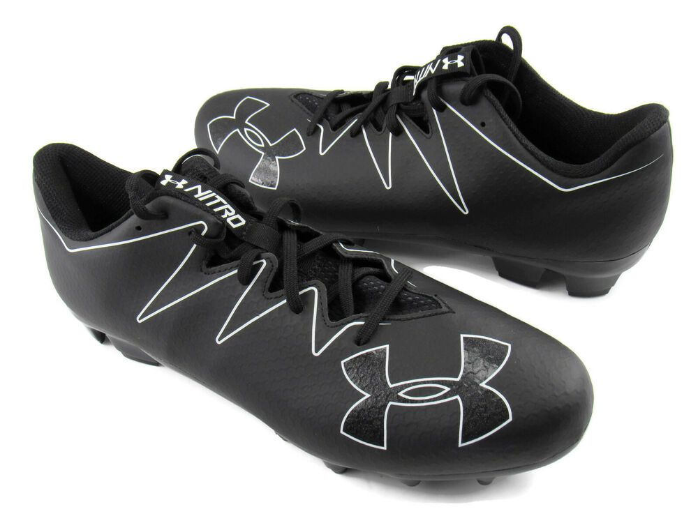 f9cdfc50b Under Armour UA Nitro Low MC Football Cleats Shoes Black Men s Size 13.5  New  UnderArmour