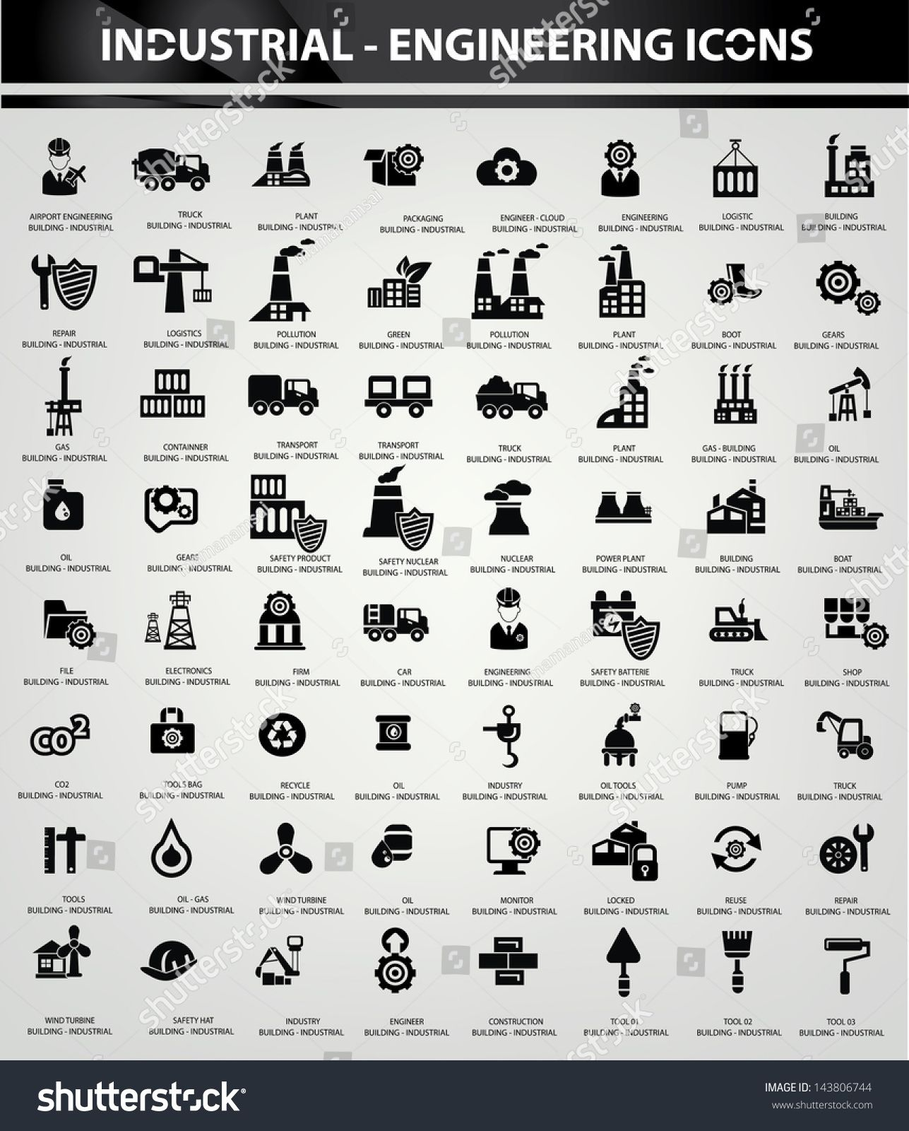 Industrial And Building Icons Black Version Vector Sponsored Affiliate Icons Building Indus In 2020 Building Icon Social Media Graphics Inspiration Stock Photos