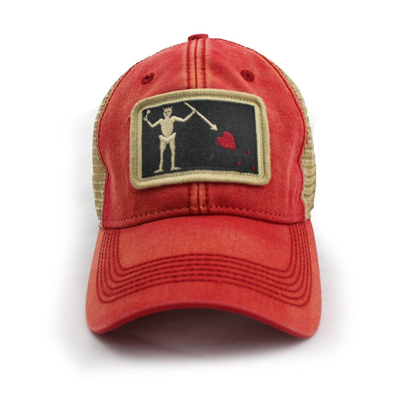 14f4f8be735 Blackbeard Pirate Flag Trucker Hat- Nautical Red - CM12O636XCP ...
