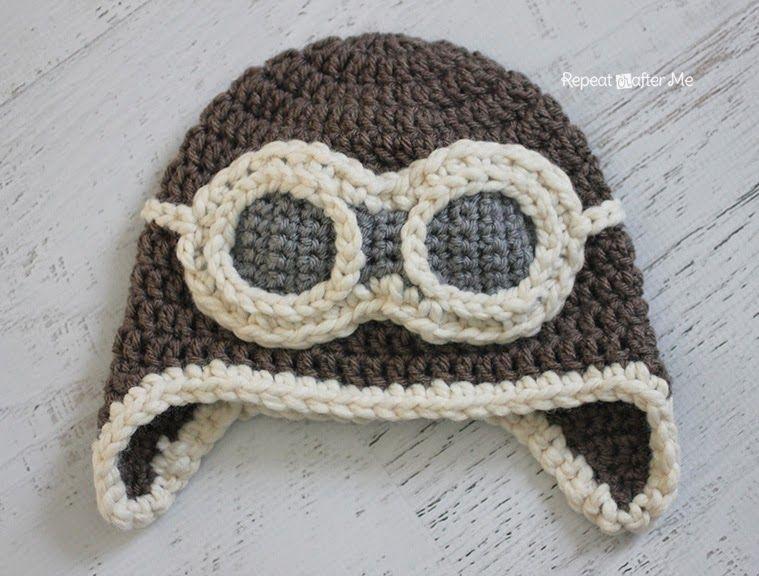 Repeat Crafter Me Crochet Aviator Hat Pattern Craft Yarn