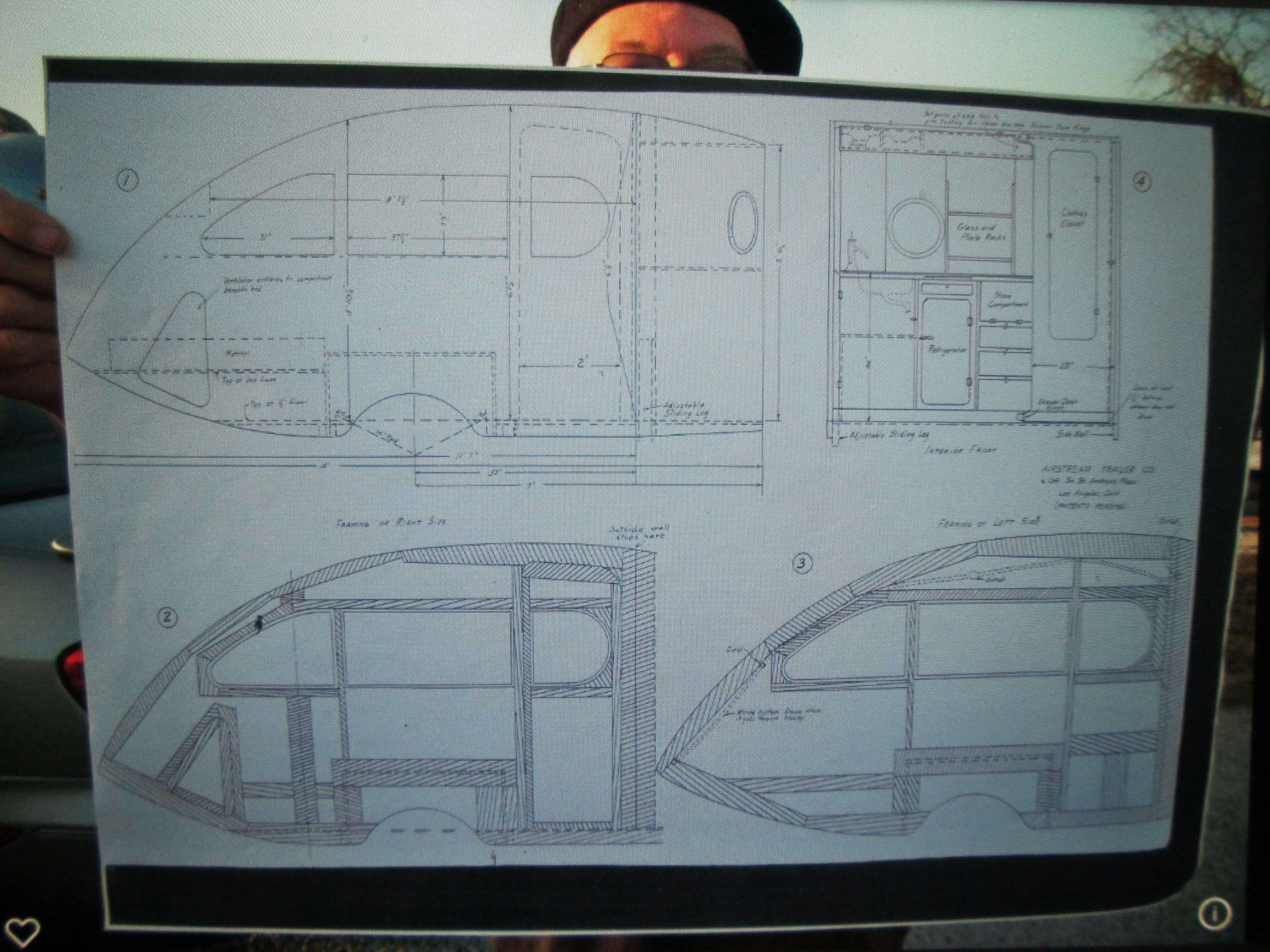 Plans for building a 1935 Airstream 14\' Torpedo trailer.These were ...